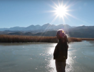 Overlooking Owens Valley water from film,Paya: The Water Story of the Paiute